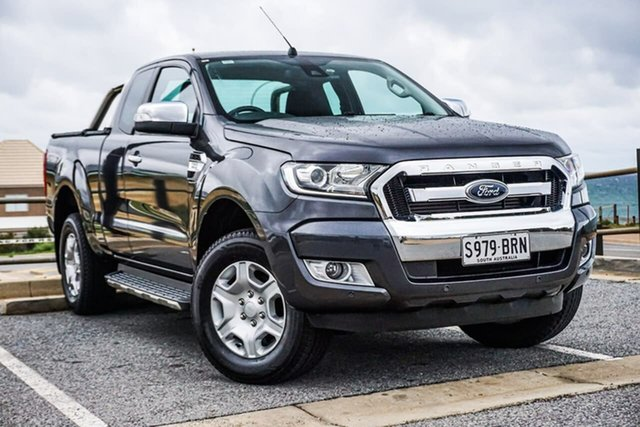 Used Ford Ranger PX MkII XLT Super Cab Christies Beach, 2017 Ford Ranger PX MkII XLT Super Cab Grey 6 Speed Sports Automatic Utility