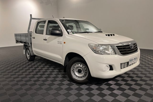 Used Toyota Hilux KUN16R MY14 SR Double Cab 4x2 Acacia Ridge, 2014 Toyota Hilux KUN16R MY14 SR Double Cab 4x2 Glacier 5 speed Manual Utility