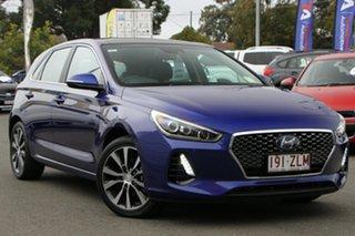 2019 Hyundai i30 PD2 MY20 Premium Intense Blue 6 Speed Sports Automatic Hatchback.