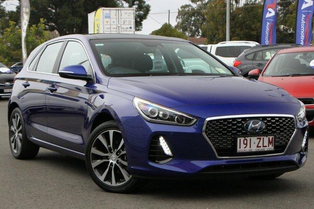 Used Hyundai i30 PD2 MY20 Premium Toowoomba, 2019 Hyundai i30 PD2 MY20 Premium Intense Blue 6 Speed Sports Automatic Hatchback