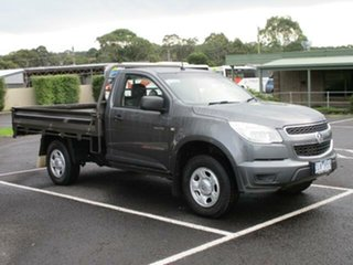 2012 Holden Colorado RG Turbo DX Royal Grey Manual Cab Chassis.