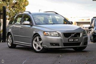 2009 Volvo V50 MY10 T5 R-Design Silver 5 Speed Sports Automatic Wagon.