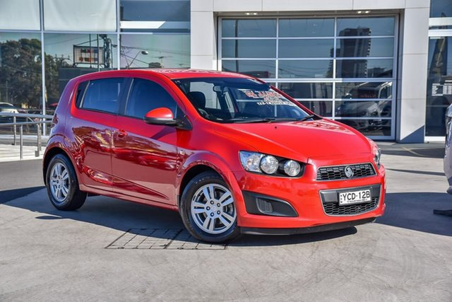 Used Holden Barina TM MY15 CD Liverpool, 2014 Holden Barina TM MY15 CD Blaze Red 6 Speed Automatic Hatchback