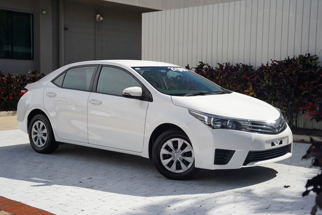 Used Toyota Corolla ZRE172R Ascent S-CVT Cairns, 2015 Toyota Corolla ZRE172R Ascent S-CVT White 7 Speed Constant Variable Sedan