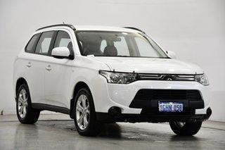 2013 Mitsubishi Outlander ZJ MY14 ES 4WD White 6 Speed Constant Variable Wagon