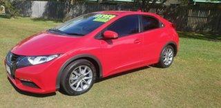 2012 Honda Civic 9th Gen VTi-L Red 5 Speed Sports Automatic Hatchback.
