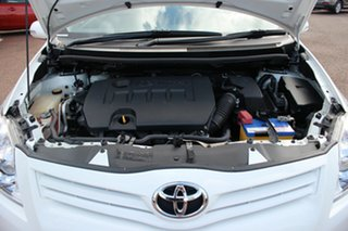 2012 Toyota Corolla ZRE152R MY11 Ascent Glacier White 4 Speed Automatic Hatchback