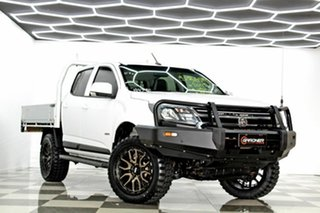 2017 Holden Colorado RG MY18 LS (4x4) White 6 Speed Automatic Crew Cab Chassis.