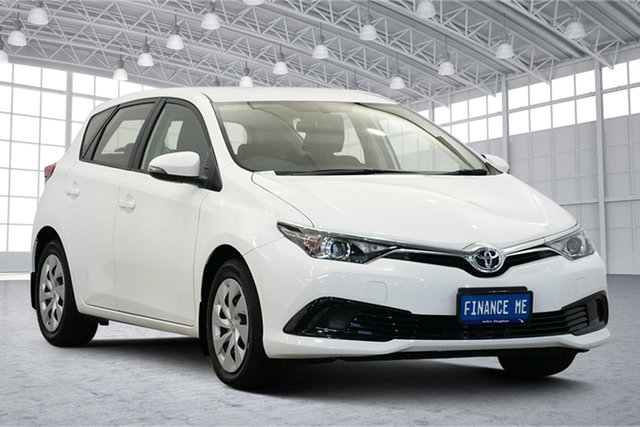 Used Toyota Corolla ZRE182R Ascent S-CVT Victoria Park, 2016 Toyota Corolla ZRE182R Ascent S-CVT White 7 Speed Constant Variable Hatchback