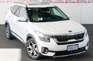 2020 Kia Seltos MY20 GT Line (AWD) White 7 Speed Auto Dual Clutch Wagon.