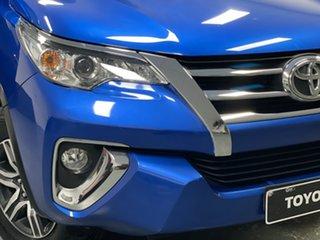2015 Toyota Fortuner GUN156R GXL Blue 6 Speed Automatic Wagon.