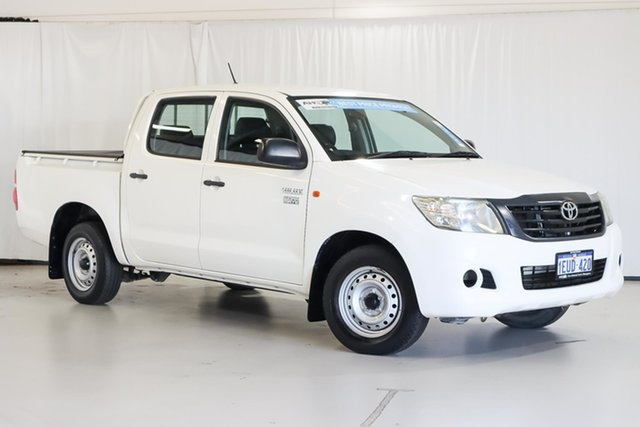 Used Toyota Hilux TGN16R MY14 Workmate Double Cab 4x2 Wangara, 2015 Toyota Hilux TGN16R MY14 Workmate Double Cab 4x2 White 4 Speed Automatic Utility