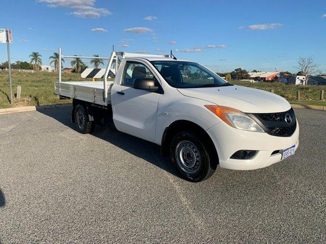 Used Mazda BT-50 XT (4x2) Wangara, 2013 Mazda BT-50 XT (4x2) White 6 Speed Manual Cab Chassis