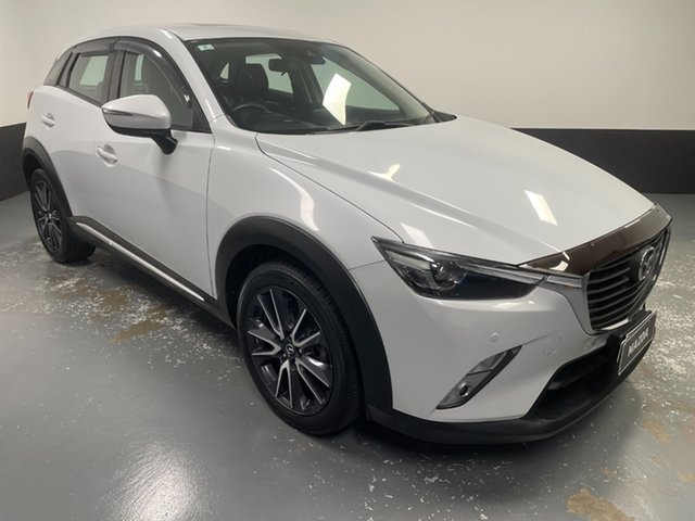 Used Mazda CX-3 DK2W7A Akari SKYACTIV-Drive Rutherford, 2018 Mazda CX-3 DK2W7A Akari SKYACTIV-Drive White 6 Speed Sports Automatic Wagon