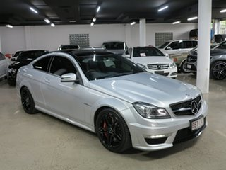 2013 Mercedes-Benz C-Class C204 MY13 C63 AMG SPEEDSHIFT MCT Silver 7 Speed Sports Automatic Coupe.
