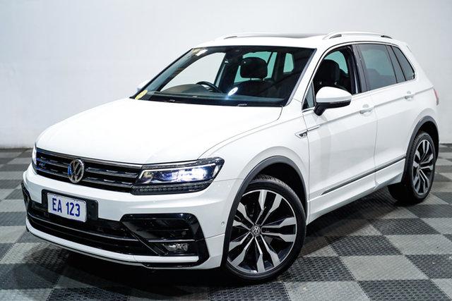 Used Volkswagen Tiguan 5N MY18 162TSI DSG 4MOTION Highline Edgewater, 2018 Volkswagen Tiguan 5N MY18 162TSI DSG 4MOTION Highline White 7 Speed