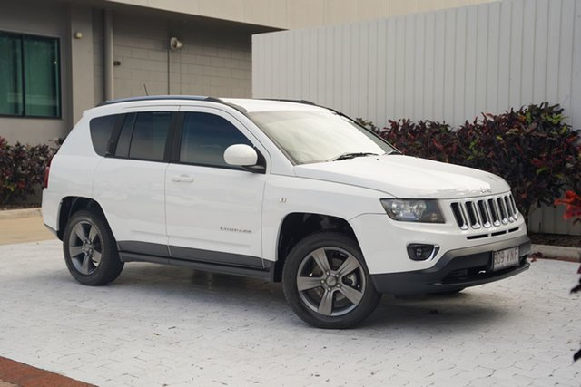 Used Jeep Compass MK MY15 North CVT Auto Stick Cairns, 2014 Jeep Compass MK MY15 North CVT Auto Stick White 6 Speed Constant Variable Wagon