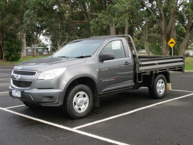 Used Holden Colorado DX Timboon, 2012 Holden Colorado RG Turbo DX Royal Grey Manual Cab Chassis