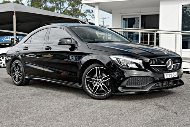 Used Mercedes-Benz CLA-Class C117 808MY CLA200 DCT North Gosford, 2017 Mercedes-Benz CLA-Class C117 808MY CLA200 DCT Black 7 Speed Sports Automatic Dual Clutch Coupe