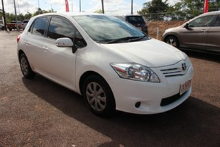2012 Toyota Corolla ZRE152R MY11 Ascent Glacier White 4 Speed Automatic Hatchback.