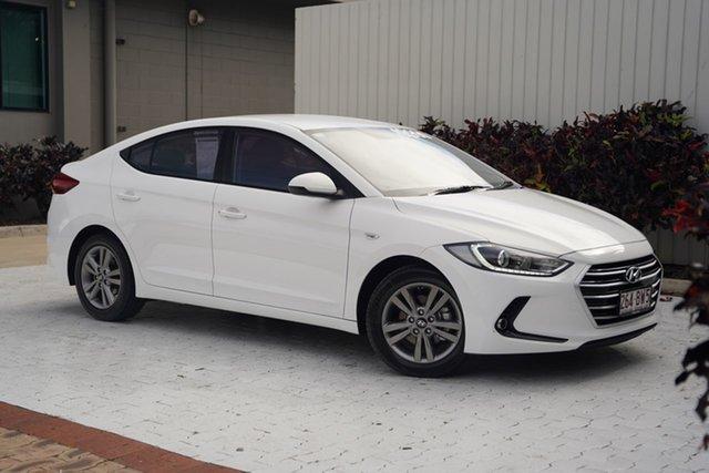 Used Hyundai Elantra AD MY17 Active Cairns, 2017 Hyundai Elantra AD MY17 Active White 6 Speed Sports Automatic Sedan
