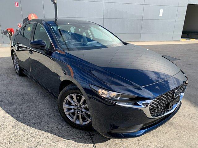 New Mazda 3 BP2S7A G20 SKYACTIV-Drive Pure Alexandria, 2021 Mazda 3 BP2S7A G20 SKYACTIV-Drive Pure Deep Crystal Blue 6 Speed Sports Automatic Sedan