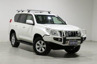 2013 Toyota Landcruiser Prado KDJ150R 11 Upgrade Altitude (4x4) White 5 Speed Sequential Auto Wagon.