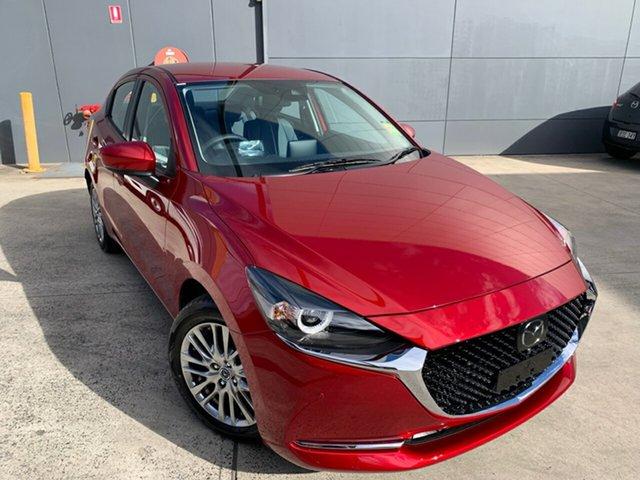 New Mazda 2 DL2SAA G15 SKYACTIV-Drive GT Alexandria, 2021 Mazda 2 DL2SAA G15 SKYACTIV-Drive GT Soul Red Crystal 6 Speed Sports Automatic Sedan