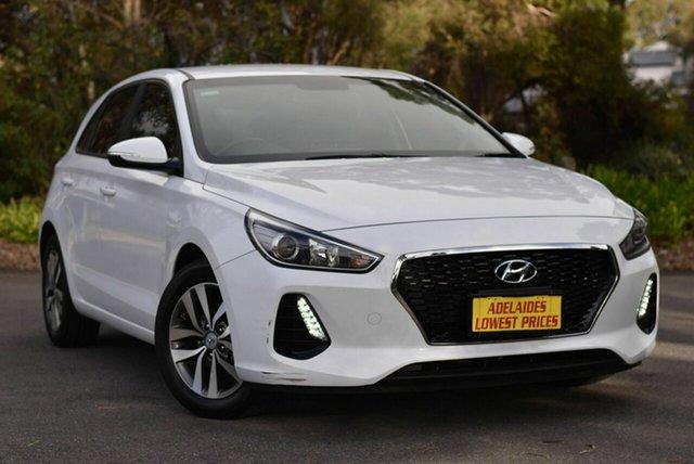 Used Hyundai i30 PD2 MY18 Active Morphett Vale, 2018 Hyundai i30 PD2 MY18 Active White 6 Speed Sports Automatic Hatchback