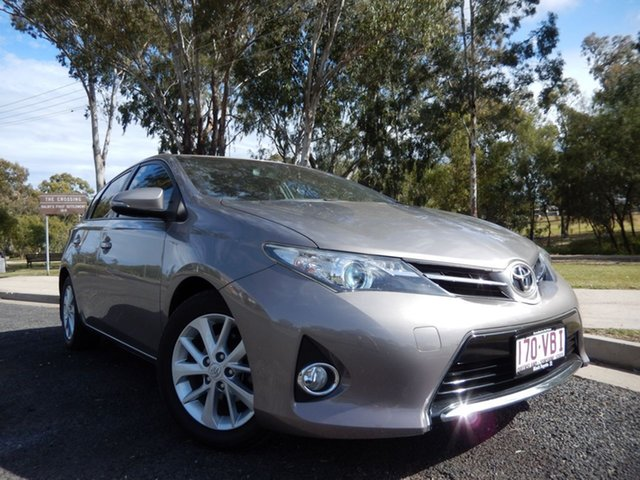 Pre-Owned Toyota Corolla ZRE182R Ascent Sport Dalby, 2014 Toyota Corolla ZRE182R Ascent Sport Positano Bronze 7 Speed CVT Auto Sequential Hatchback