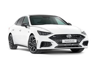 2021 Hyundai Sonata DN8.V1 N Line White Cream 8 Speed Automatic Sedan