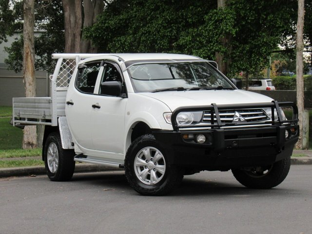 Used Mitsubishi Triton MN MY15 GLX Double Cab, 2015 Mitsubishi Triton MN MY15 GLX Double Cab White 4 Speed Sports Automatic Utility