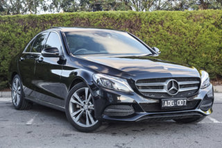 2014 Mercedes-Benz C-Class W205 C200 7G-Tronic + Obsidian Black 7 Speed Sports Automatic Sedan.