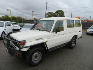 2001 Toyota Landcruiser HZJ78R (4x4) 3 Seat White 5 Speed Manual 4x4.