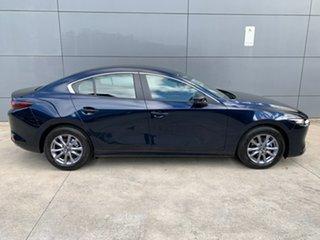 2021 Mazda 3 BP2S7A G20 SKYACTIV-Drive Pure Deep Crystal Blue 6 Speed Sports Automatic Sedan.