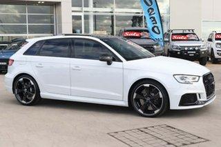 2020 Audi RS 3 8V MY20 Carbon Edition Sportback S Tronic Quattro Glacier White 7 Speed.