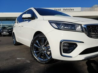 2020 Kia Carnival YP MY20 Platinum White 8 Speed Sports Automatic Wagon.