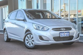 2017 Hyundai Accent RB4 MY17 Active Silver 6 Speed Constant Variable Hatchback.