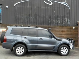 2005 Mitsubishi Pajero NP MY05 Platinum Edition Blue 5 Speed Sports Automatic Wagon.