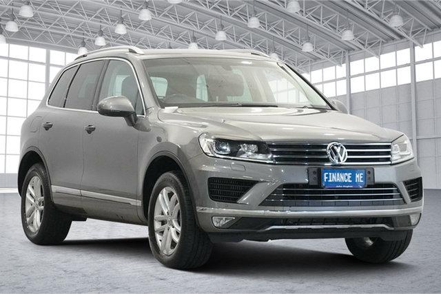 Used Volkswagen Touareg 7P MY16 150TDI Tiptronic 4MOTION Element Victoria Park, 2015 Volkswagen Touareg 7P MY16 150TDI Tiptronic 4MOTION Element Grey 8 Speed Sports Automatic Wagon