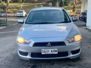 2010 Mitsubishi Lancer CJ MY10 ES Silver 6 Speed Constant Variable Sedan.