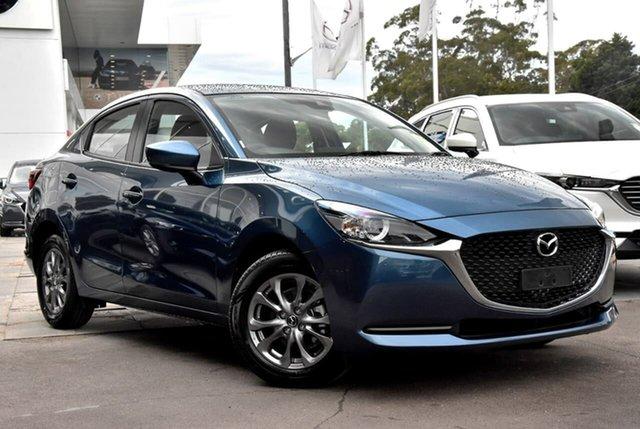 New Mazda 2 DL2SAA G15 SKYACTIV-Drive Pure Waitara, 2021 Mazda 2 DL2SAA G15 SKYACTIV-Drive Pure Blue 6 Speed Sports Automatic Sedan