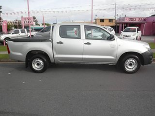 2009 Toyota Hilux TGN16R Workmate Silver 5 Speed Manual Dual Cab.
