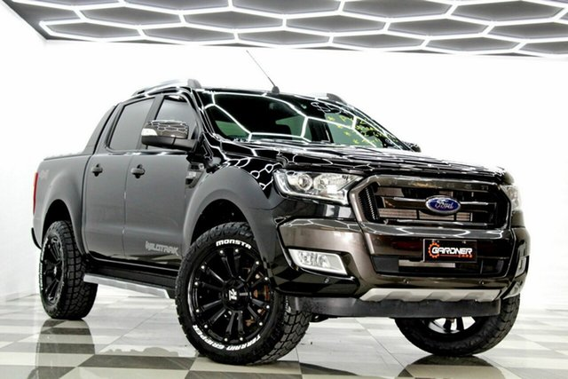 Used Ford Ranger PX MkII Wildtrak 3.2 (4x4) Burleigh Heads, 2015 Ford Ranger PX MkII Wildtrak 3.2 (4x4) Black 6 Speed Automatic Dual Cab Pick-up