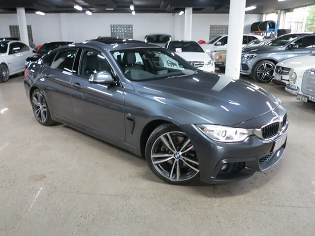 Used BMW 4 Series F36 430i Gran Coupe M Sport Albion, 2016 BMW 4 Series F36 430i Gran Coupe M Sport Mineral Grey 8 Speed Sports Automatic Hatchback
