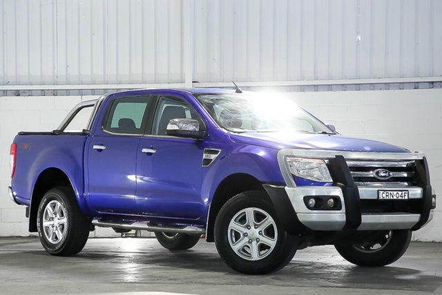 Used Ford Ranger PX XLT Double Cab Erina, 2014 Ford Ranger PX XLT Double Cab Blue 6 Speed Sports Automatic Utility