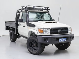 2018 Toyota Landcruiser VDJ79R MY18 Workmate (4x4) White 5 Speed Manual Cab Chassis.