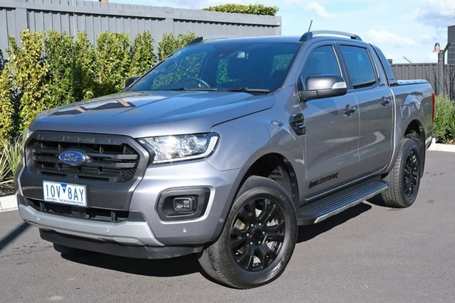 Used Ford Ranger PX MkIII 2019.00MY Wildtrak Essendon Fields, 2019 Ford Ranger PX MkIII 2019.00MY Wildtrak Grey 10 Speed Sports Automatic Double Cab Pick Up