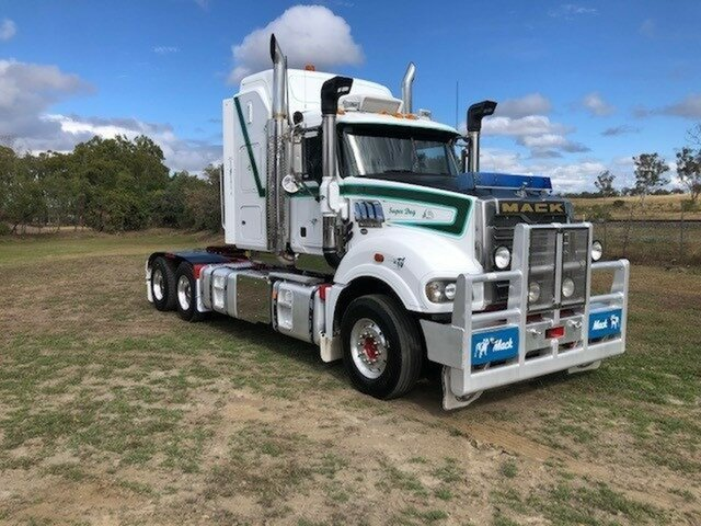 Used Mack Superliner Truck Harristown, 2013 Mack Superliner Superliner Truck White Prime Mover