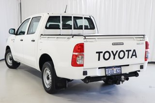 2015 Toyota Hilux TGN16R MY14 Workmate Double Cab 4x2 White 4 Speed Automatic Utility.